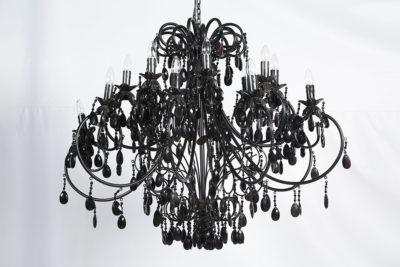 LUSTRE PRETO 16 LAMPÂDAS